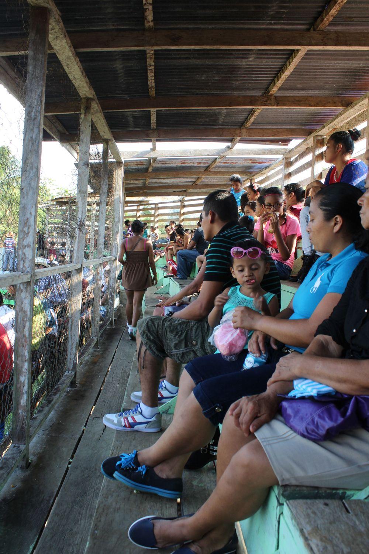 Dans les tribunes de l'arène,El Castillo, Rio San Juan, Nicaragua
