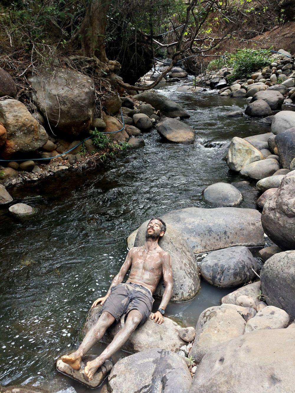 Soin de boue, Rincon de la Vieja, Guanacaste, Costa Rica