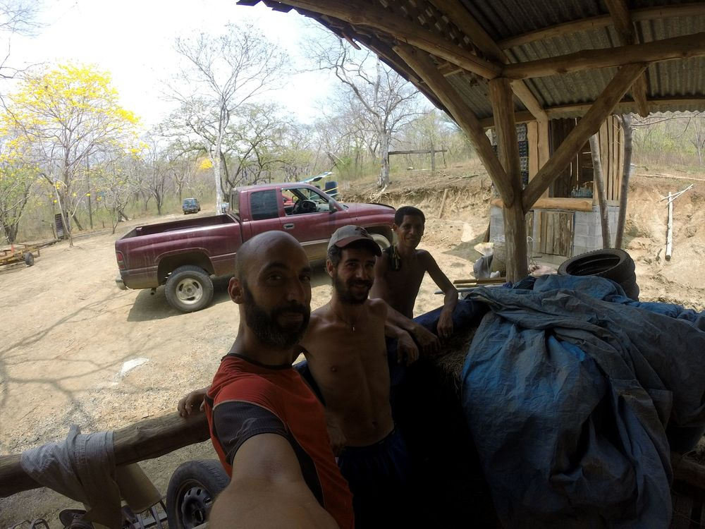 Pause photo avec Andrès et Martin,  Monkey Farm, Playa Ocotal, Guanacaste, Costa Rica