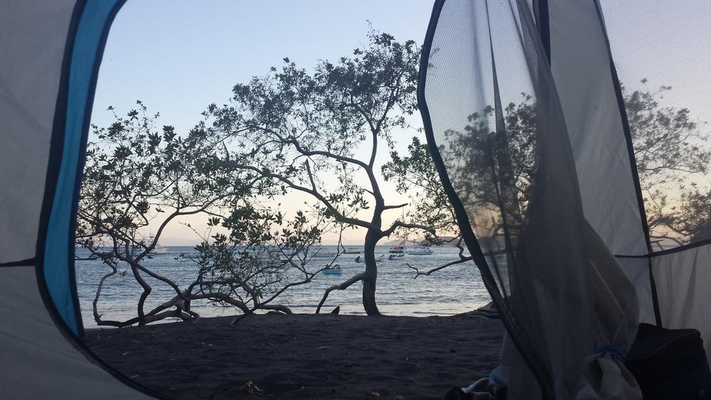 Réveil sur la plage d'Ocotal, Guanacaste, Costa Rica