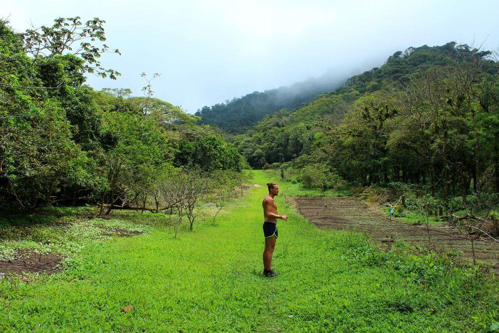 Dans les montagnes de El Valle de Antón, Coclé, Panama