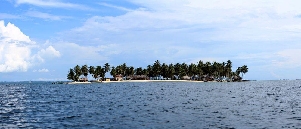 Notre arrivée sur l'île de Perro Chico, San Blas, Panama