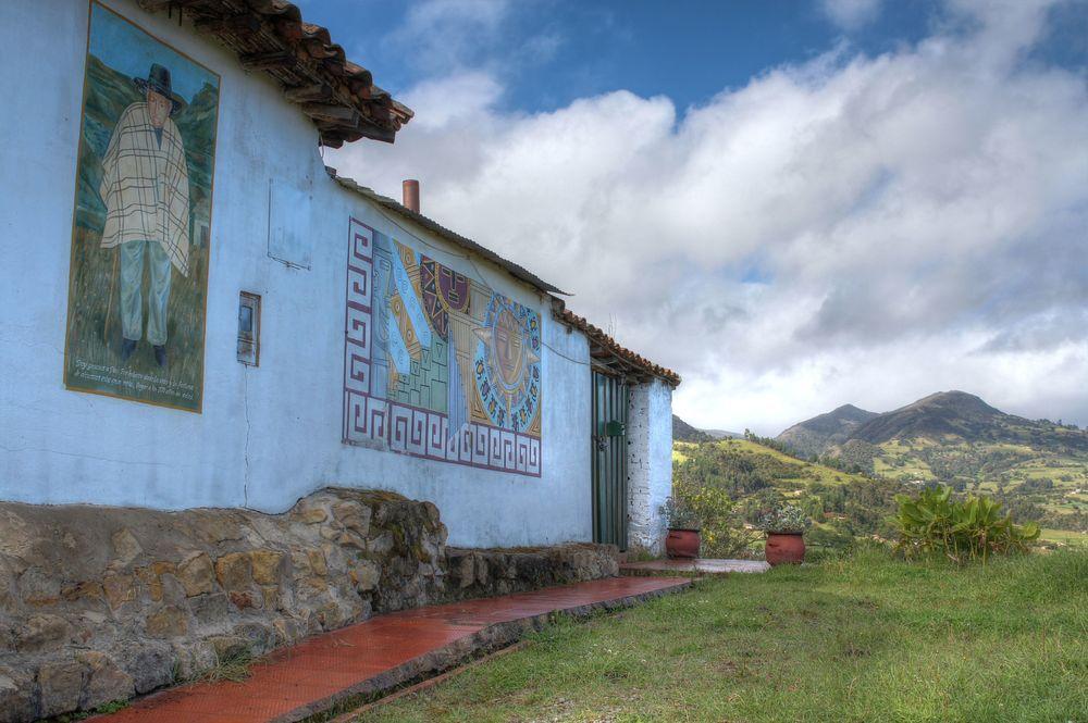 Village de Mongui, Boyacà, Colombie