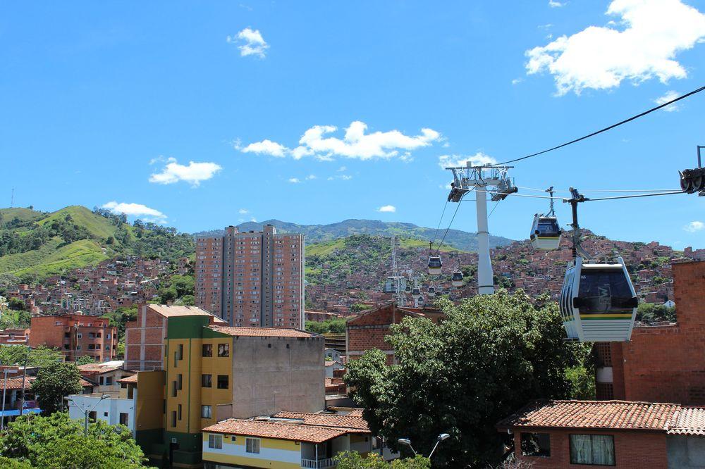 Le téléphérique de Medellin, Antioquia, Colombie
