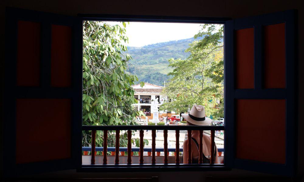 Vue de notre chambre, Jardin, Antioquia, Colombie