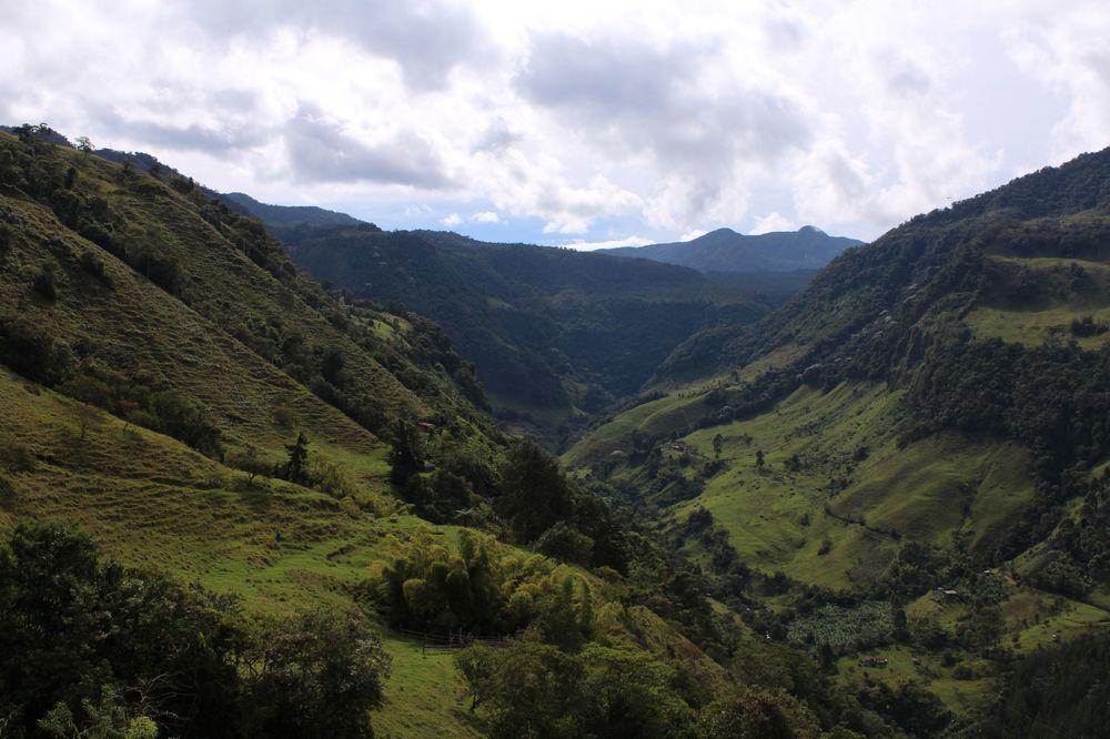 La vallée de Jardin, Antioquia, Colombie