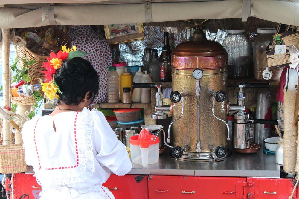 Bar à café ambulant, Manizales, Zona Cafetera, Caldas, Colombie