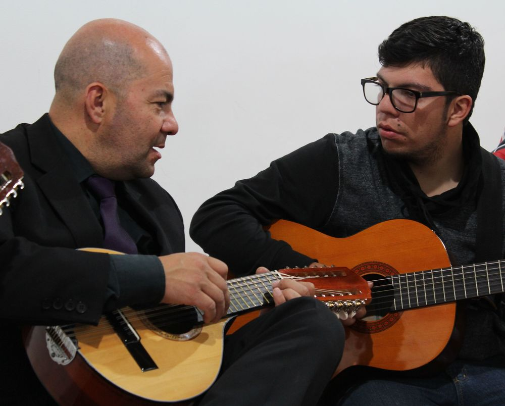 Javier et son fils Estefano, Tunja, Boyacà, Colombie