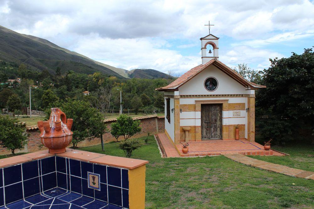 Vue de la finca chez Milton, Villa de Leyva, Boyacà, Colombie