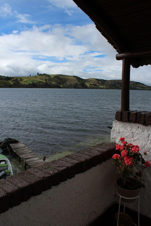 Vue du restaurant, Laguna de Tota, Sogamoso, Boyacà, Colombie