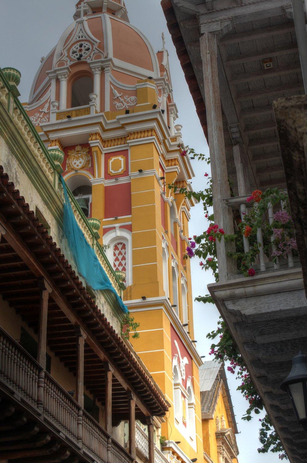 Dans les rues de Carthagène, Bolivar, Colombie