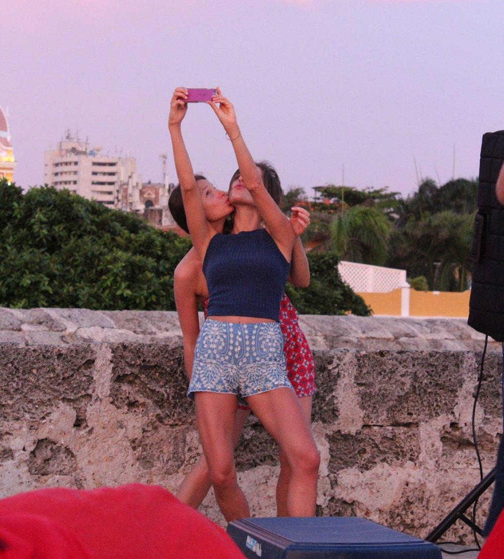 Instant selfie/coucher de soleil, Paulin et Sophie, Carthagène, Bolivar, Colombie