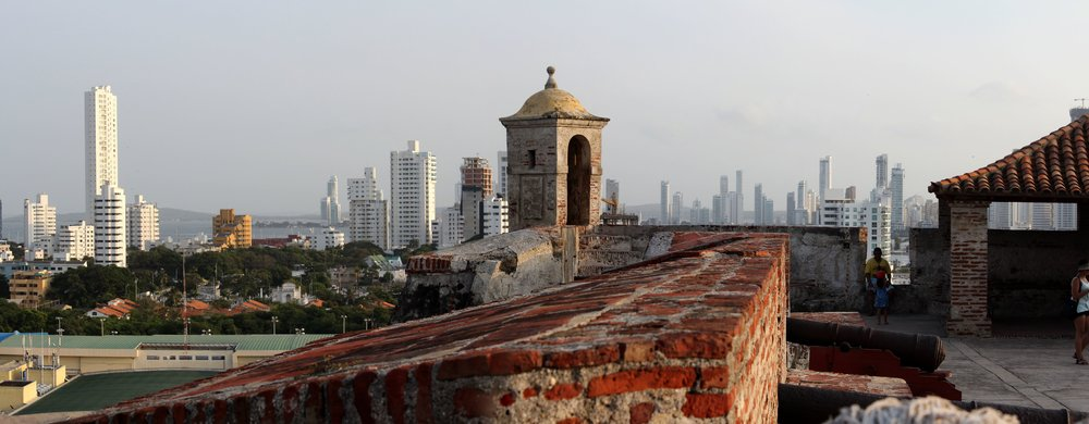 Vue du Castillo San Felipe de Barajas, Carthagène, Bolivar, Colombie