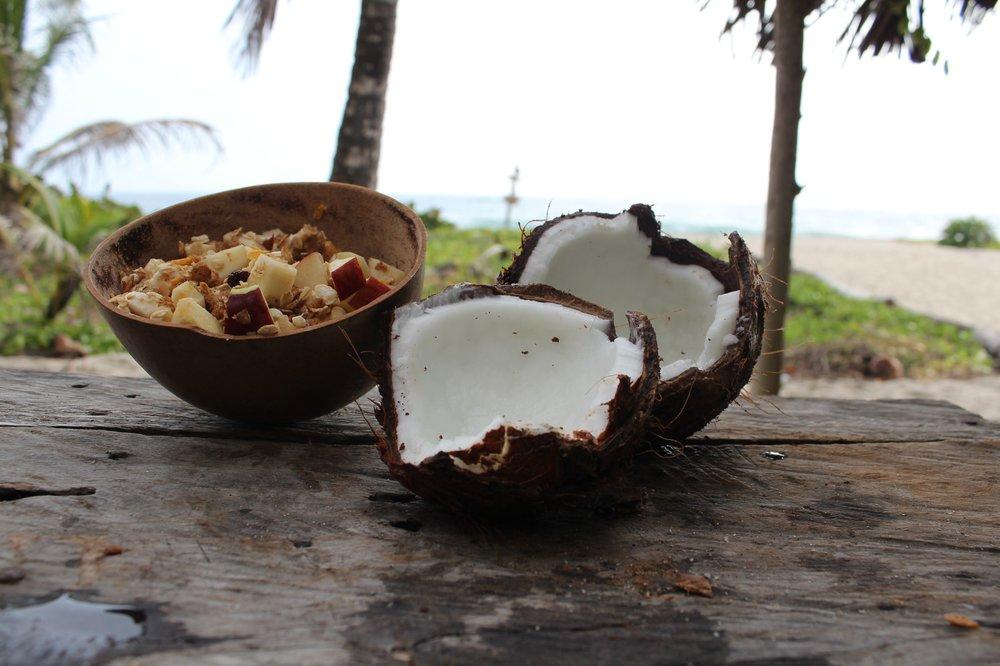 Petit déjeuner tropical, Playa Castilettes, Parque Tayrona, Magdalena, Colombie