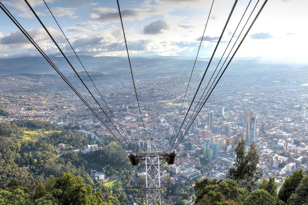 Vue du funiculaire, Cerro  Monserrate, Bogotá, Distrito Capital, Colombie