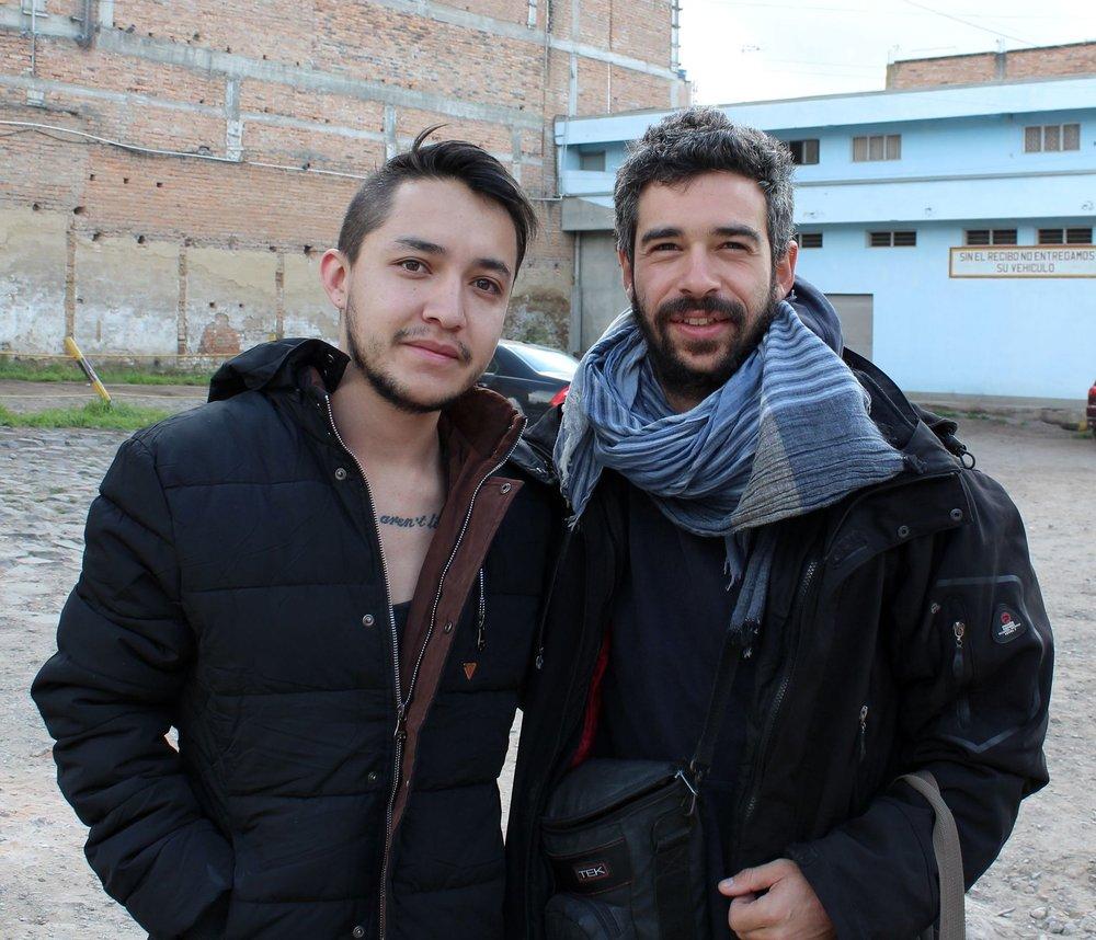 Au petit matin avec Alvaro avant notre passage de frontière vers l'Equateur, Ipiales, Narino, Colombie