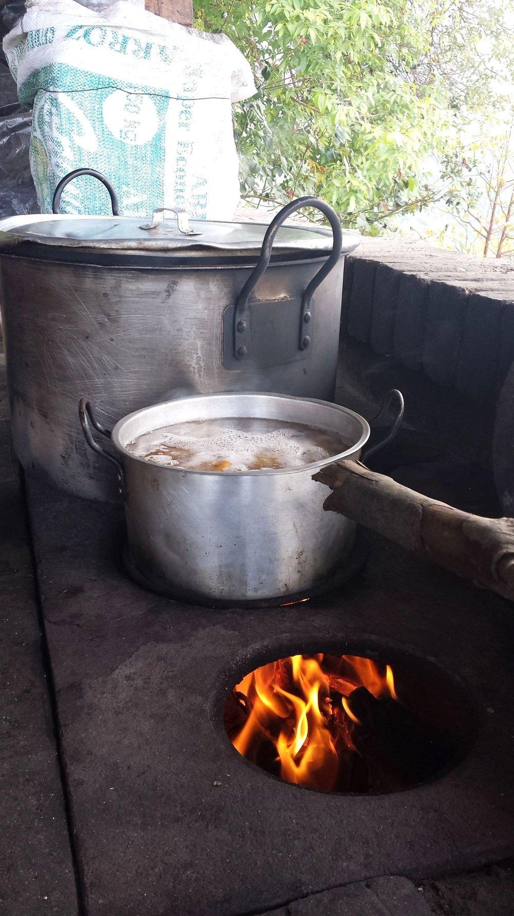 Notre cuisine, Finca de Barlovento, Valle del Cauca, Colombie