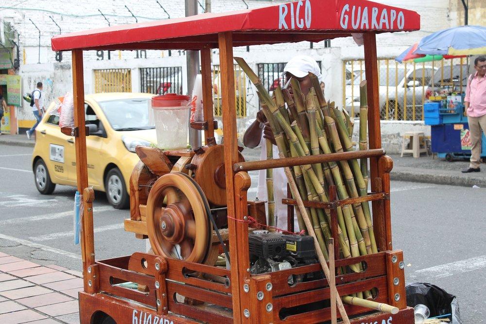 Stand de jus de canne à sucre, Cali, Valle de Cauca, Colombie