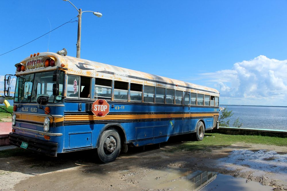 Chicken Bus, Corozal, Belize