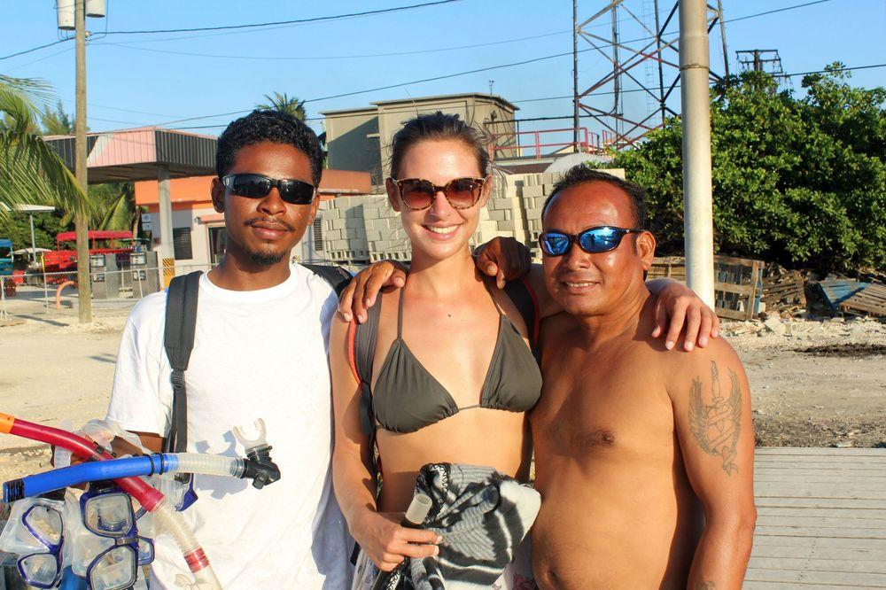 Denzel et Carlos, nos instructeurs de plongée, Caye Caulker, Belize