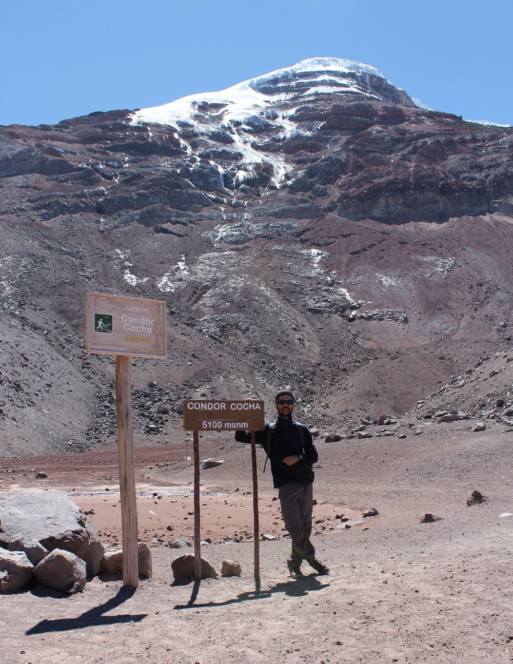 A 5 100 m, au pied du volcan Chimborazo, Chimborazo, Equateur