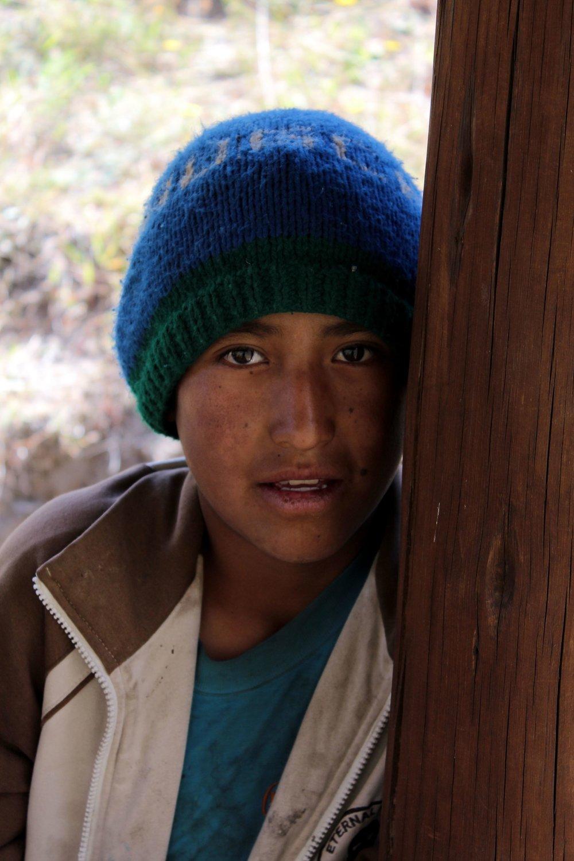 Enfant, Quilotoa loop, Cotopaxi, Equateur