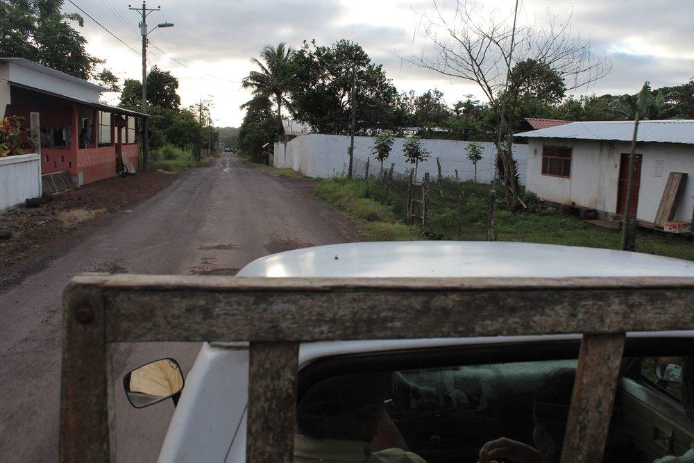 Visite en pick-up, IslaSanta Cruz, Ecuador