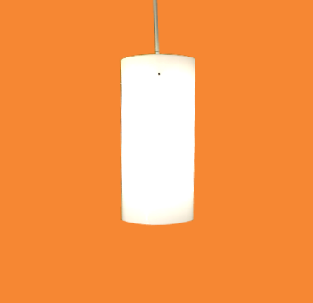 Stilnovo Style Frosted Acrylic & Chrome Pendant