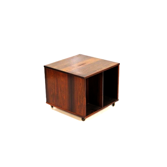 Rosewood Magazine Holder/Side Table