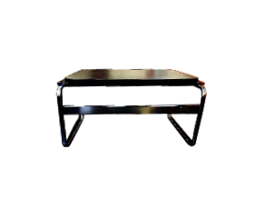 Black Laminate and Chrome Side Table
