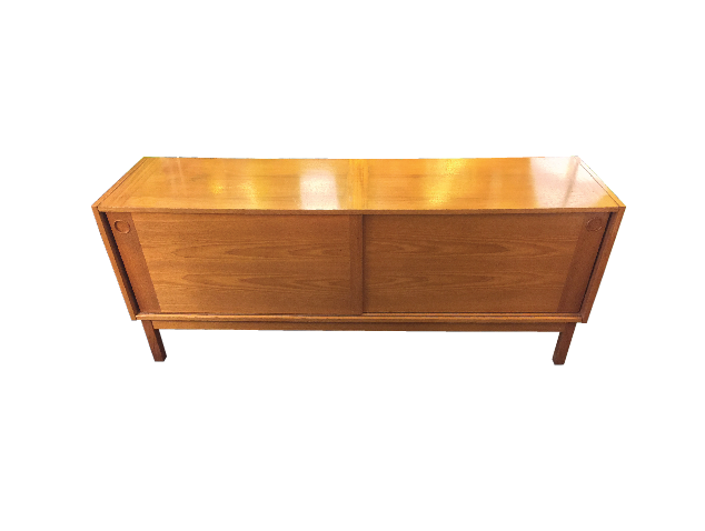 Danish Teak Sideboard w/ Sliding Doors