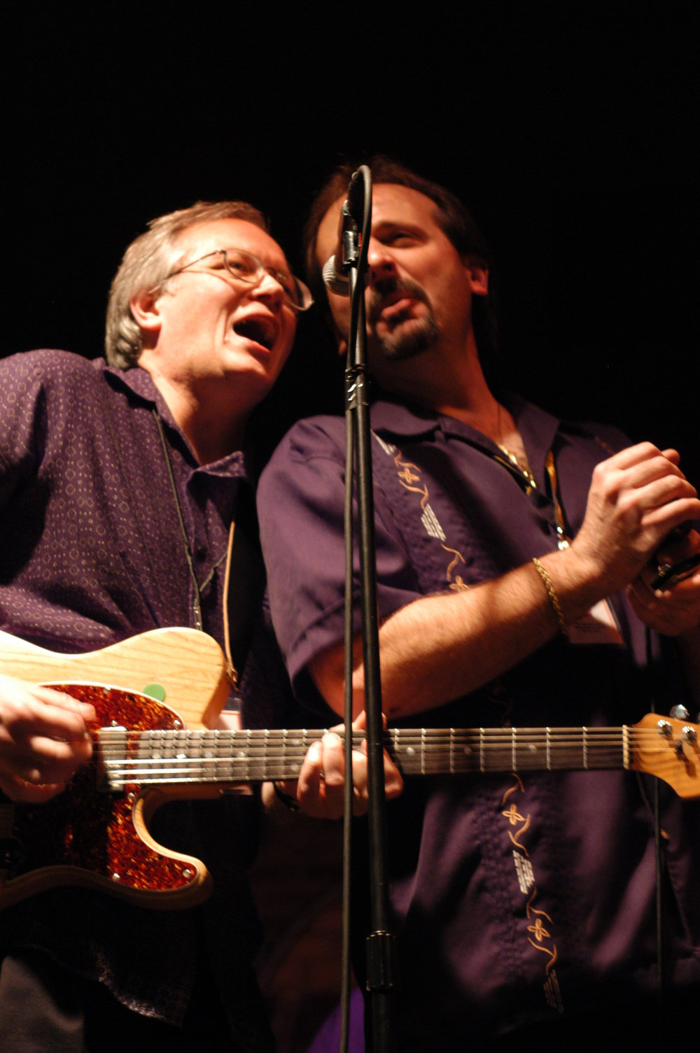 Paul Turnbull and Jack Sanso. Black Cat Otis CD release at Hard Rock Cafe, Pgh. PA