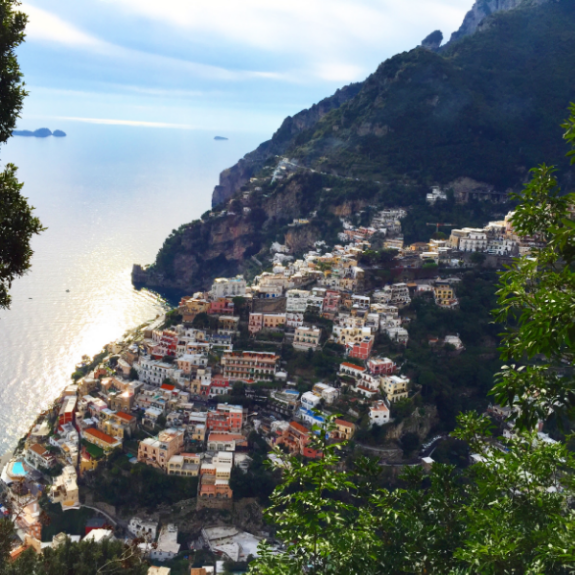The view of Positano, coming down 1,400 steps from the Walk of the Gods.