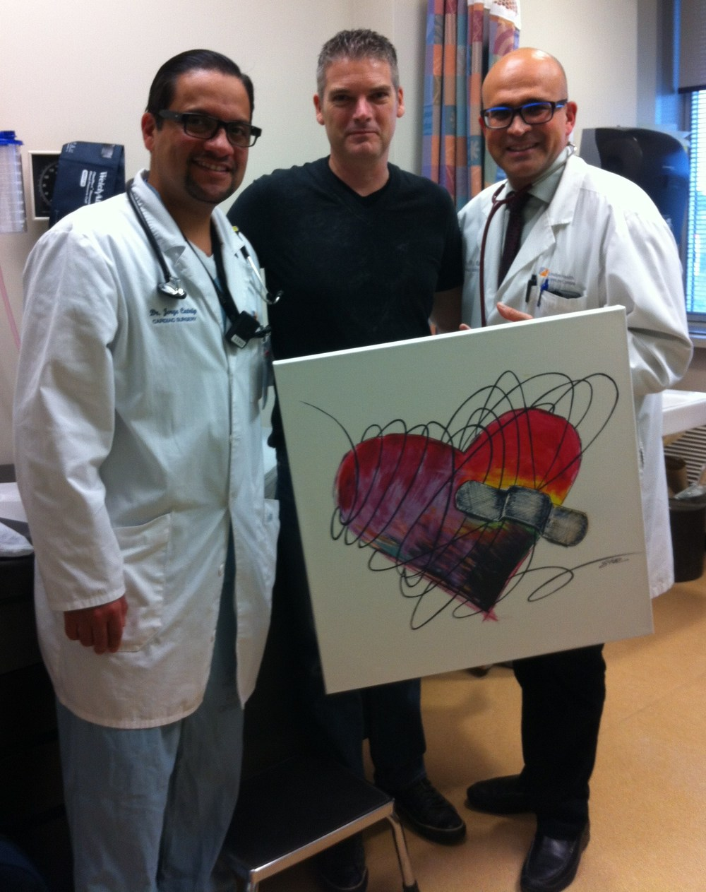 Dr. Jorge Catrip  and Dr. Bob Kiaii on first visit back after surgery