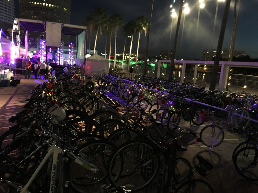 Tampa Bike Valet at OnBoard Winter Wonder Ride