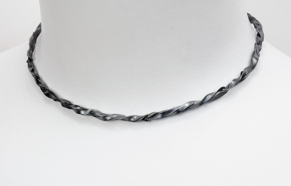 segmented necklace . oxidized sterling - 2600.00