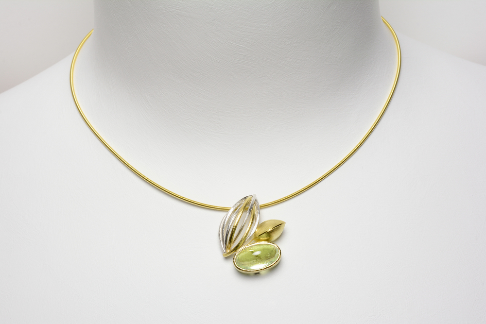 tide pool pin on 18ky gold cable - 2400.00