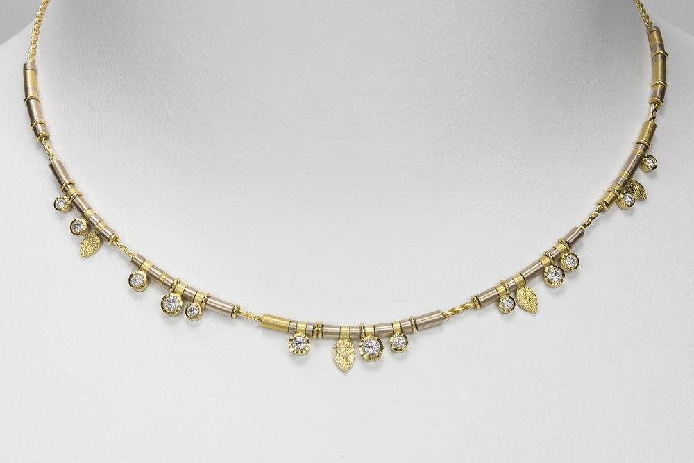 13 diamond drop necklace
