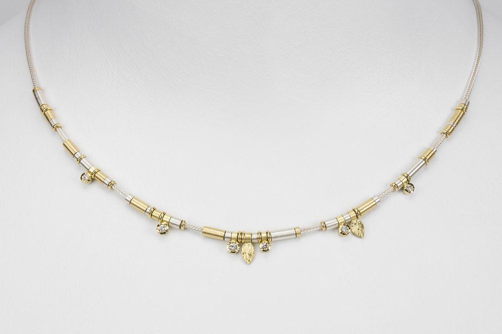6 diamond drop necklace