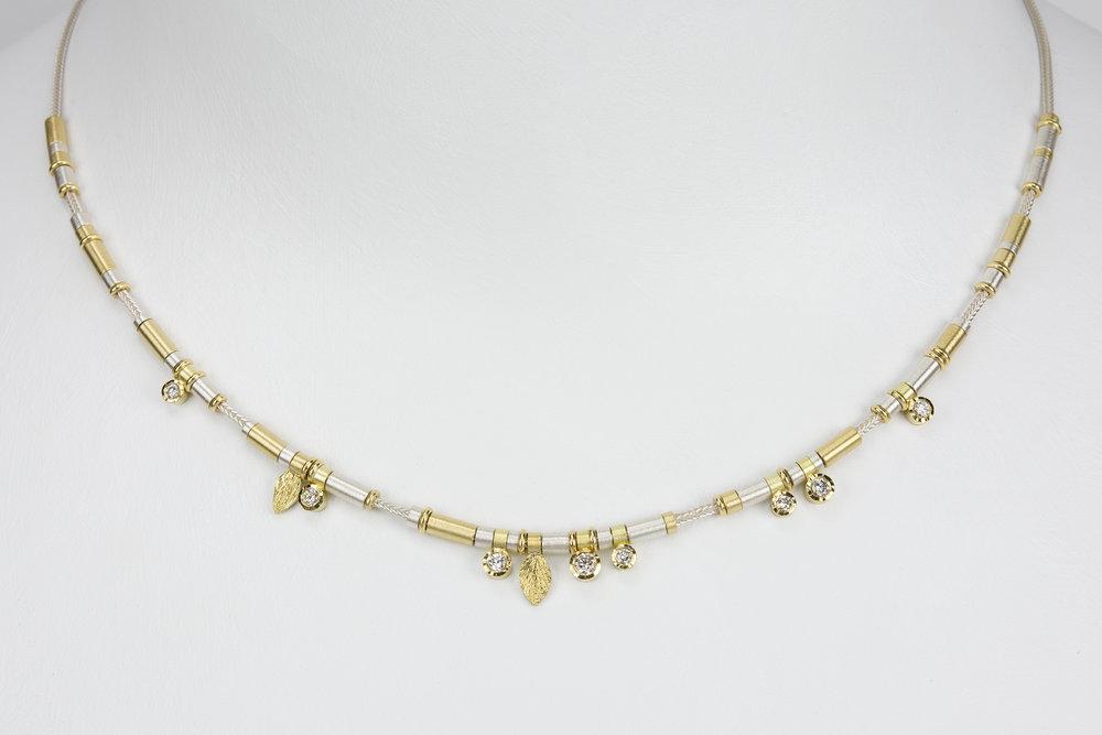 8 diamond drop necklace