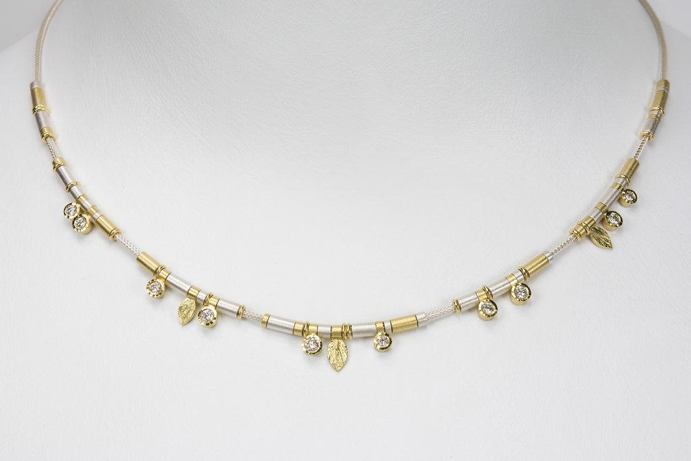 10 diamond drop necklace