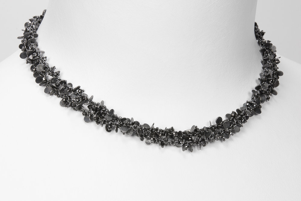oxidized and black diamond beads
