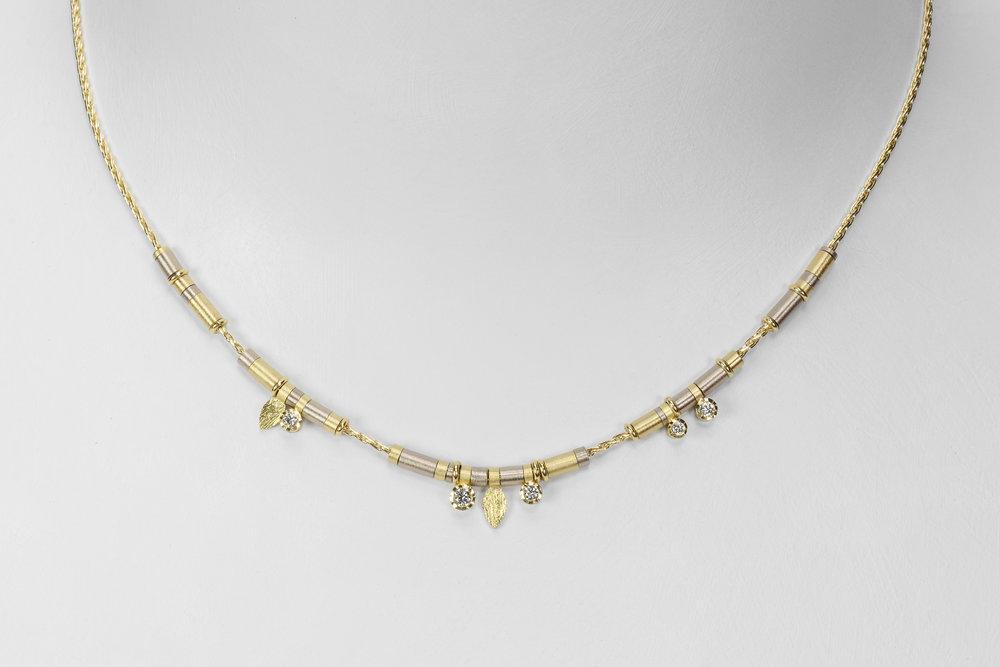 5 diamond drop necklace