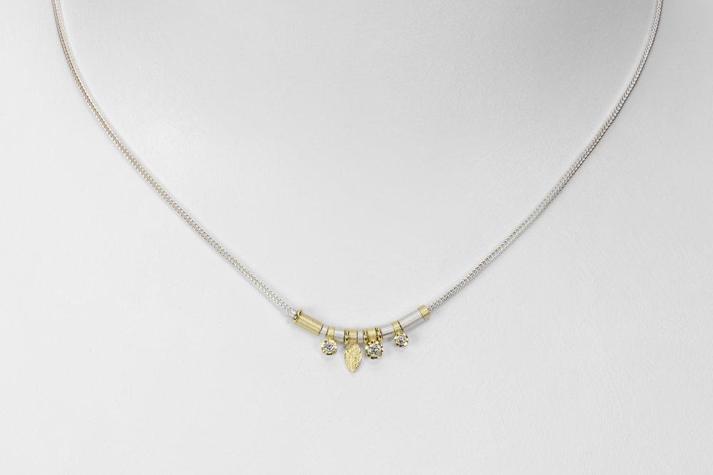 3 diamond drop necklace