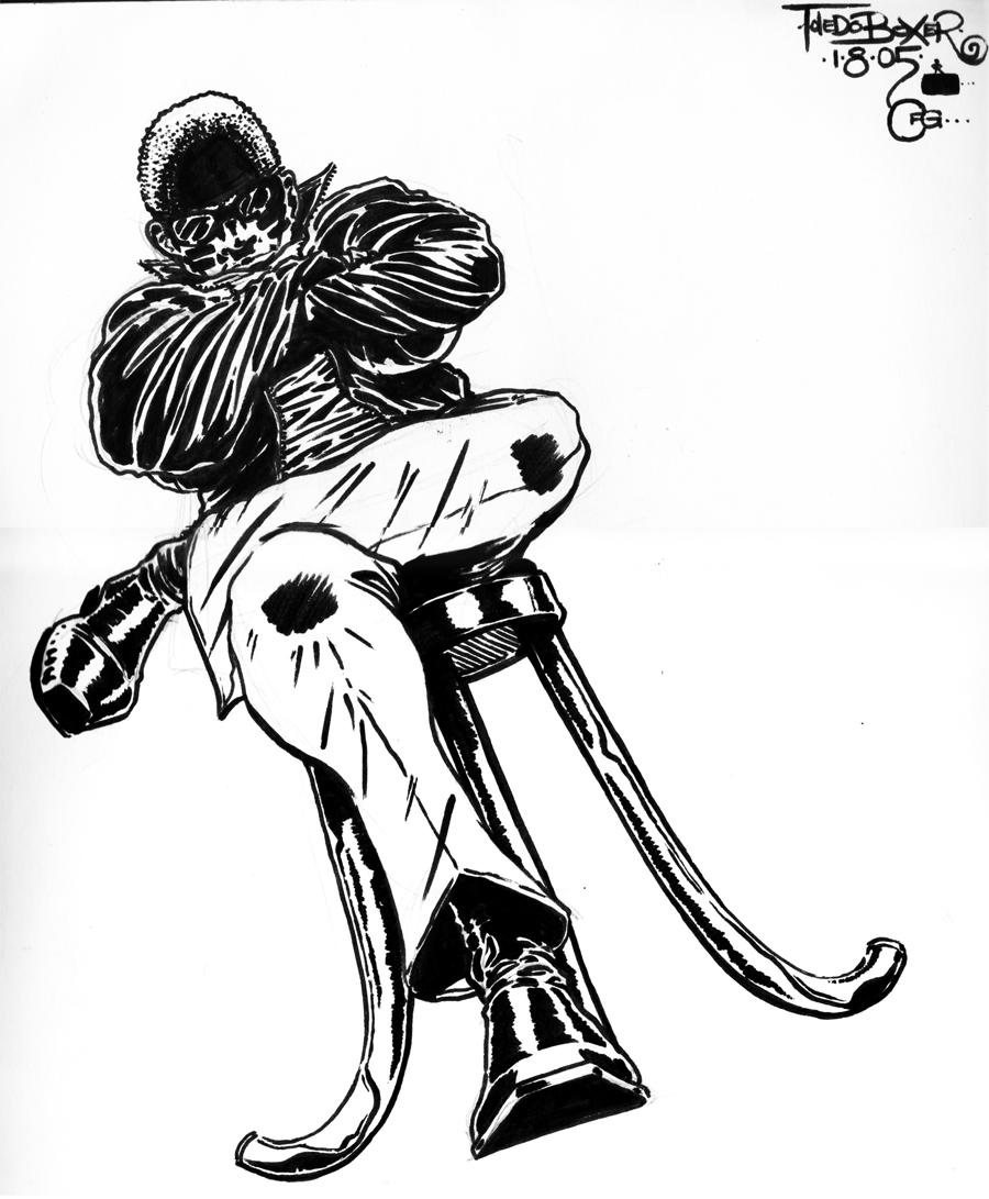 TOLEDO Boxer lean (ink sketch) 2005.jpg