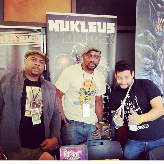 Want to thank my boy @bronxheroes Ray Felix (on the right with the Megatron arm) for sharing that space last min. #BlackComicBookFestNYC #BronxKids #BX #TheBronx #comics