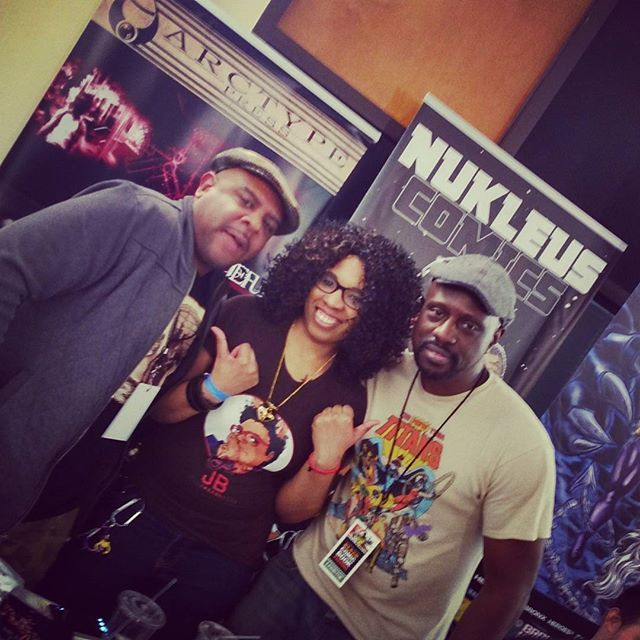 #BlackComicBookFestNYC with @foxyjazzabelle and @therealdashen