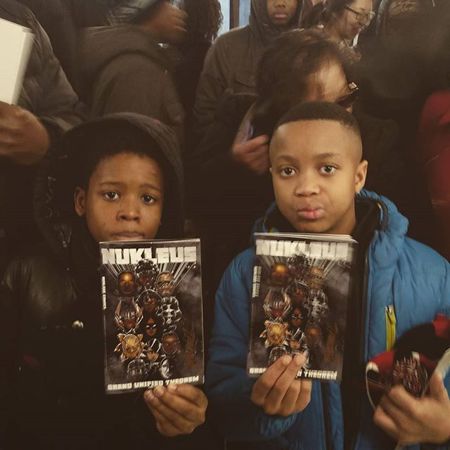 This is what it's all about! #blackcomicbookfestnyc  at the historic Arthur #schomburgcenter #NukleusComics 2017 #Harlem