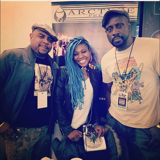 #BlackComicBookFestNYC with @therealdashen @wind__rider83 owner of @amalgamphilly and @fcorey