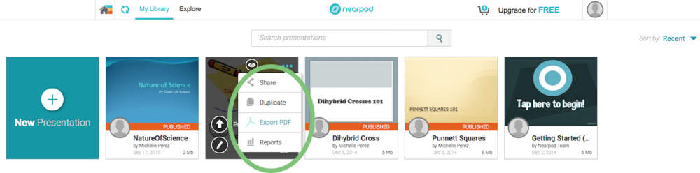 Nearpod has the option to export your presentations. It even includes any assessment slides so students can practice at home!